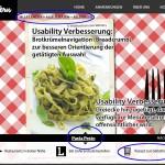 Usability Verbesserung nach den Tests