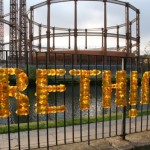 Anna Garforth - Rethink - Typography installation with leafs
