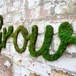 Anna Garforth - Grow - Typography installation with moss