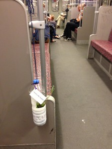 "A ""Travelling Plant"" continued its traveling with another U-Bahn"