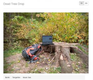 """Website Screenshot of a """"Dead Tree Drop"""" interface."""